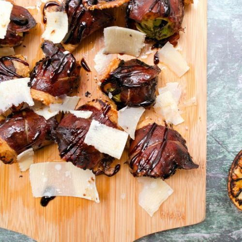 Prosciutto wrapped brussels sprouts
