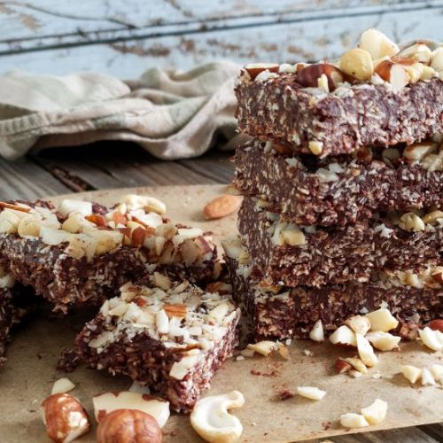 Chocolate Coconut Cereal Bars
