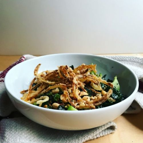 Broccoli Salad with Fried Onions