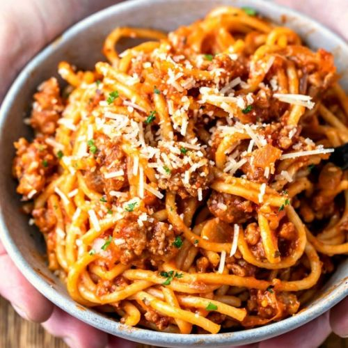Instant Pot Spaghetti & Meat Sauce