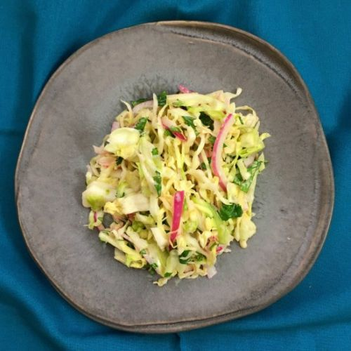 Zesty Green Cabbage Slaw