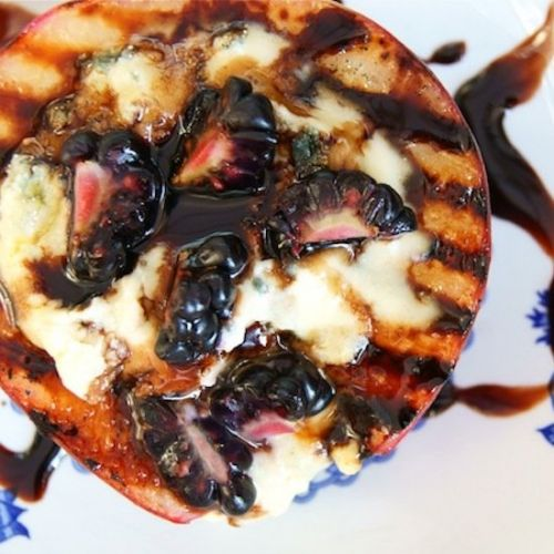Blue Cheese Grilled Peaches