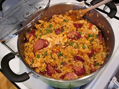 Ric Orlando's Chicken and Sausage jambalaya