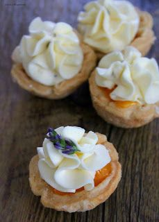 Apricot Curd and Lavender Cheesecake Mousse Tart