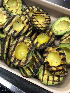 Grilled avocado and mango salad by Ric Orlando
