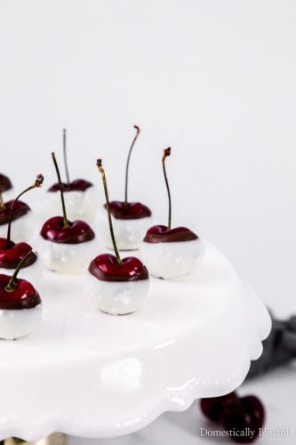 Double-Chocolate Dipped Cherries with Sea Salt
