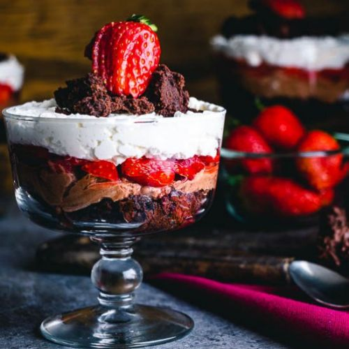 Mini Strawberry Chocolate Brownie