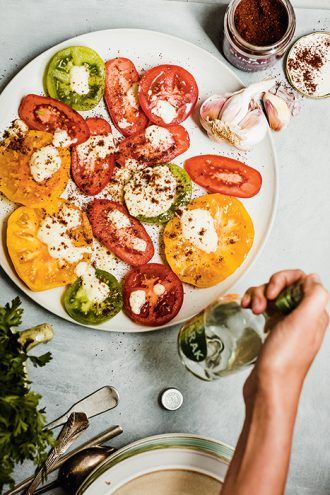 Arak-Drizzled Heirloom Tomatoes