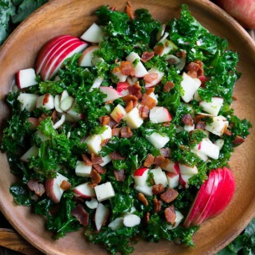 Kale Apple Salad with Bacon