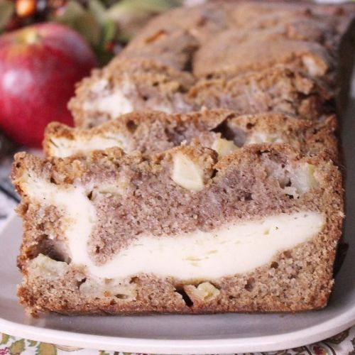 Apple Bread with Cream Cheese