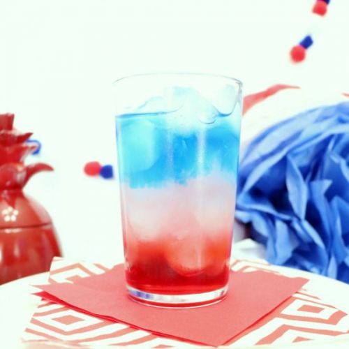 Red White and Blue Layered Cocktail
