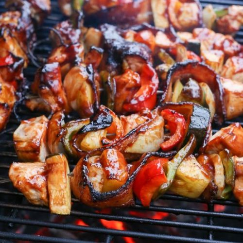 BBQ Bacon Pineapple Chicken Kabobs