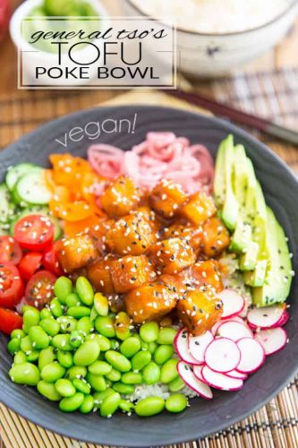 General Tso's Tofu Poke Bowl