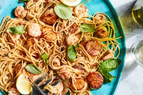Summer Seafood Pastawith White Wine Sauce