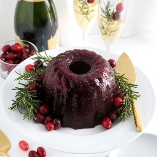 Champagne Cranberry Sauce Mold