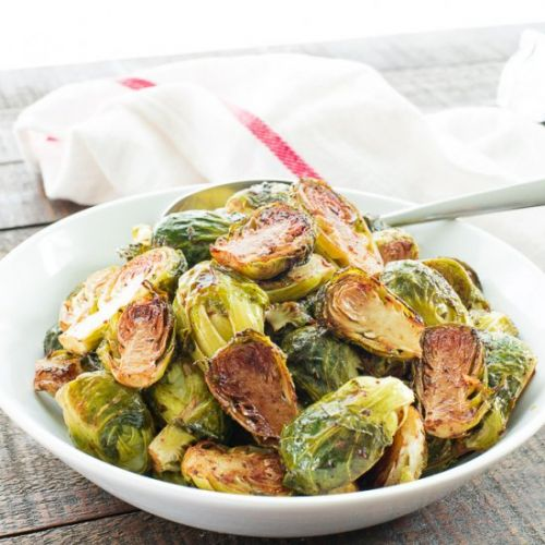 Balsamic-Rosemary Brussels Sprouts