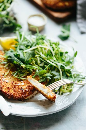 Gluten Free Chicken Cutlets with Greens