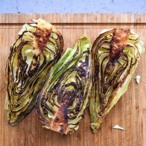 Simple Charred Cabbage