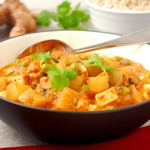 Quick Vegetarian Red Curry