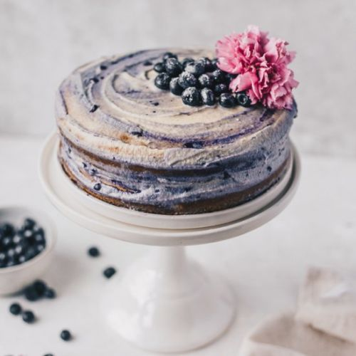 PALEO BLUEBERRY NAKED CAKE