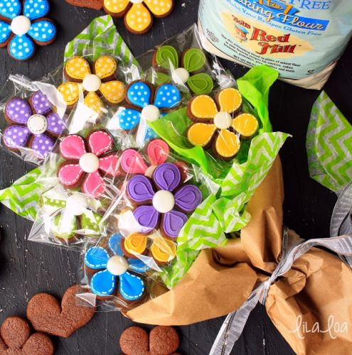 Gluten Free Cookies and Flower Bouquets for Mother's Day!!