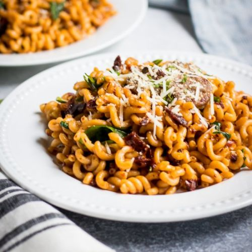 Spicy Sun-Dried Tomato Pasta