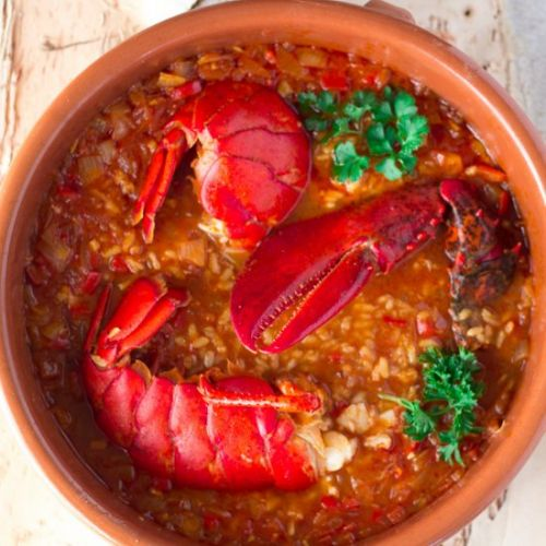 Lobster with Rice Caldoso