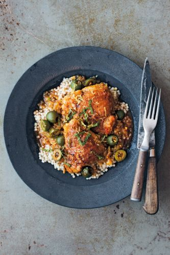 Slow-Cooker Chicken Tagine with Olives and Lemon