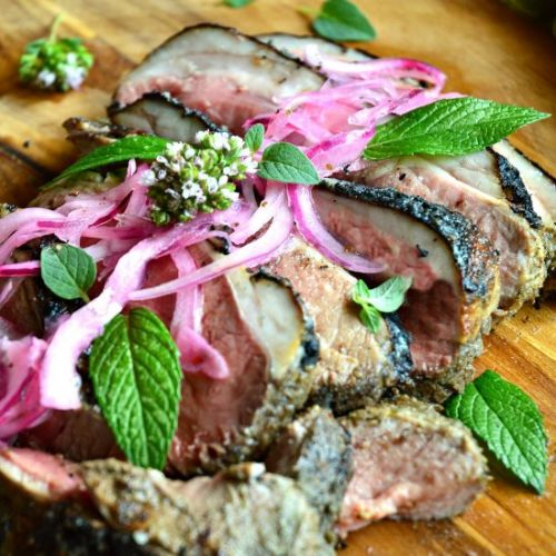 Grilled Lamb with Mint Marinade