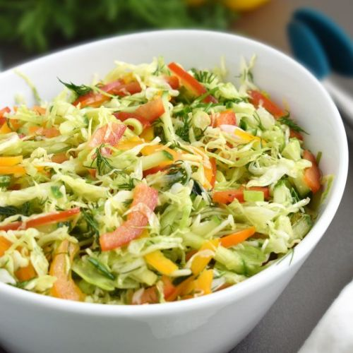 Cabbage Pepper Salad