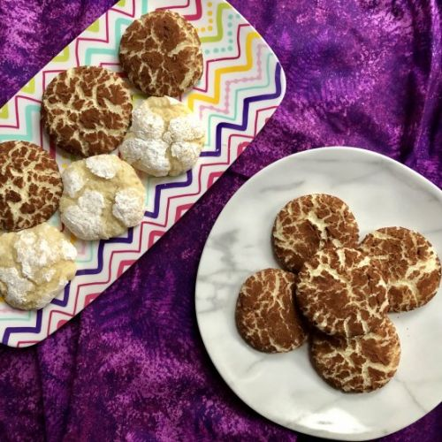 Passover Almond Crinkle Cookies