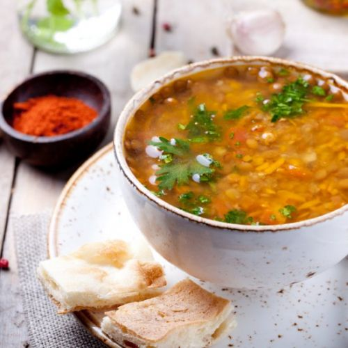 Lentil Soup made with honey