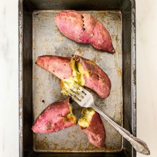 Baked Japanese Sweet Potatoes
