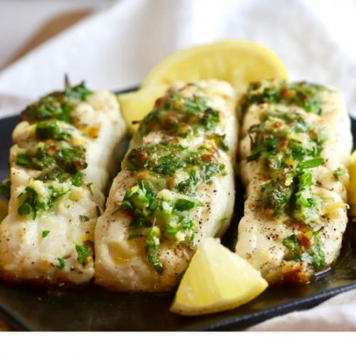 Broiled Halibut with Gremolata