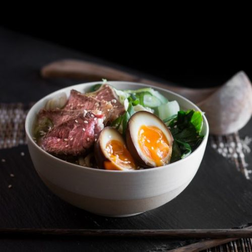 Beef and Udon Noodle Soup