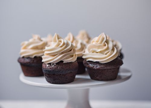 Bailey's Chocolate Cupcake with Bailey's Buttercream Frosting