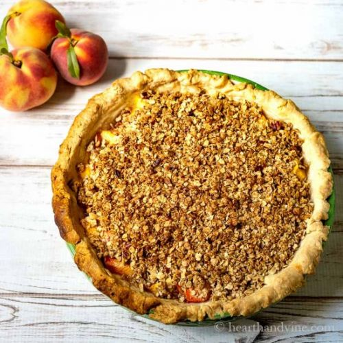 Fresh Peach Pie Crumble