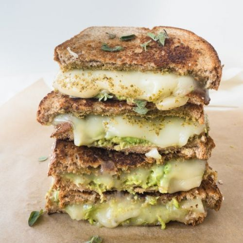 Easy,10-Minute Pesto Grilled Cheese