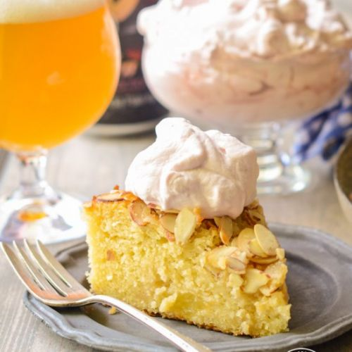 Almond Cake with Beer Caramelized