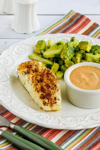 Spicy Air Fryer Fish with Remoulade Sauce