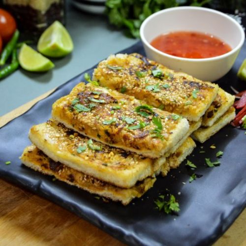 Chicken and Cheese Bread Toast