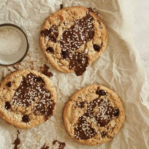 Tahini Dark Chocolate Chunk Cookies