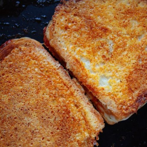 Cheese Crusted Pizza Grilled Cheese