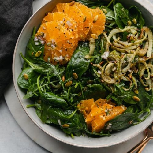 Spinach Arugula Salad with Citrus