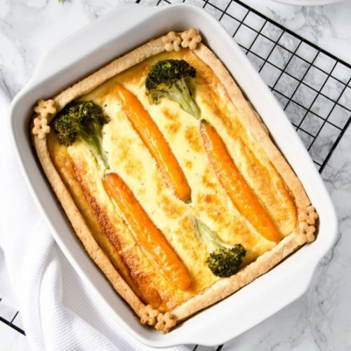 Quiche with Carrots and Broccoli
