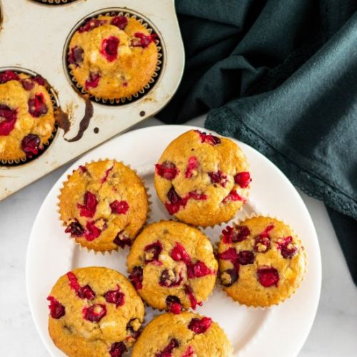 LOW FODMAP CRANBERRY ORANGE MUFFINS