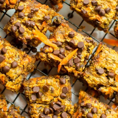 Peanut Butter Carrot Blondies