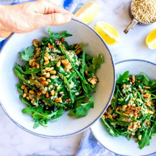 Asparagus & Spinach Risotto