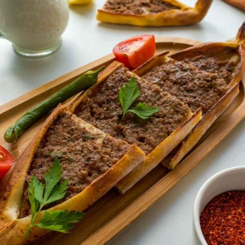 Turkish Pide with Beef