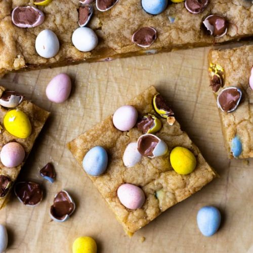 Chocolate Easter Egg Cookie Bars